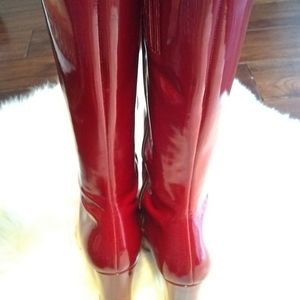 Enzo Angiolini Shoes - Enzo Angiolini Patent red boots sz 8M